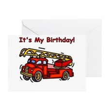 Fire Truck Birthday Party Invitations (Pk of 10)