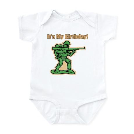 Green Army Men Birthday Infant Bodysuit