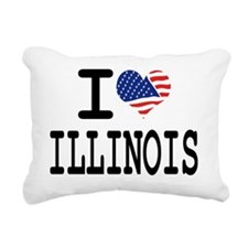 I LOVE ILLINOIS Rectangular Canvas Pillow