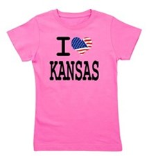 I LOVE KANSAS Girl's Tee