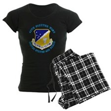 49th-Fighter-Wing-with-Text Pajamas