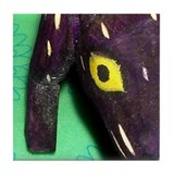 Dog Figurine (Purple) Art Tile