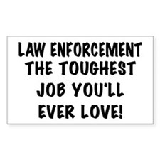Toughest Job Rectangle Decal