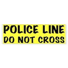Police Line Bumper Bumper Sticker