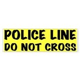 Police Line Bumper Car Sticker
