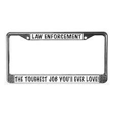 Toughest Job License Plate Frame