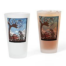 tile coaster.grattakita Drinking Glass
