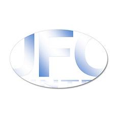 ufo hunter blue 35x21 Oval Wall Decal