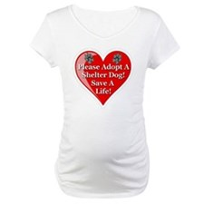 adopt_a_shelter_dog_white_transp Shirt