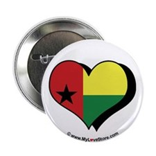 "I Love Guinea Bissau 2.25"" Button (100 pack)"