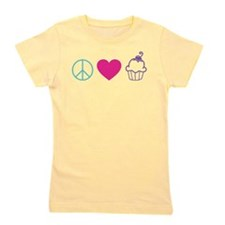 Peace Love Cupcakes Girl's Tee