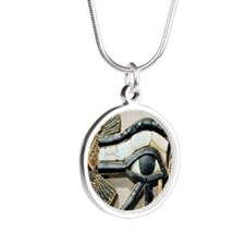 Eye of Re Silver Round Necklace