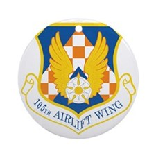 105th-Airlift-Wing Round Ornament