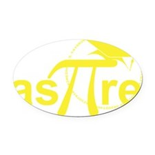 Aspire Yellow Oval Car Magnet