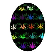 Rainbow Weed Garden Ornament (Oval)