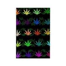 Rainbow Weed Garden Rectangle Magnet