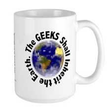 Large Geeks Inherit the Earth Mug