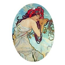 K/S Mucha Spring Oval Ornament