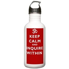 Keep_Calm_Yoga1Square Water Bottle