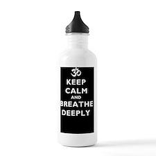 Keep_Calm_BreatheDeepl Sports Water Bottle