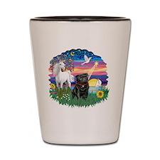 Magical Night - Black Pug 14 Shot Glass