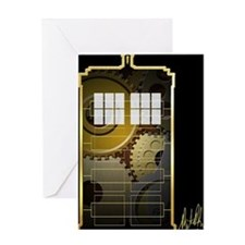 Steampunk TARDIS Greeting Card