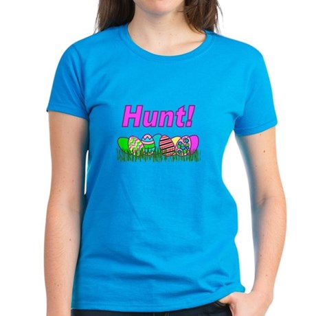 Hunt Easter Eggs Women's Dark T-Shirt