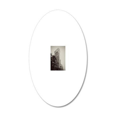 V Flatiron kindle 20x12 Oval Wall Decal