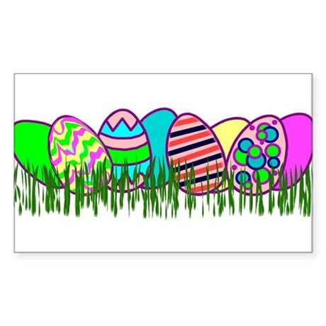 Easter Egg Hunt Rectangle Sticker