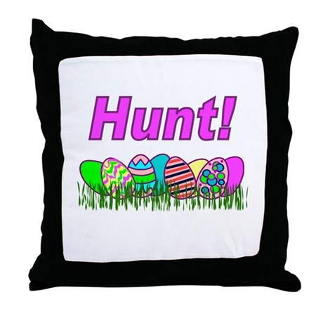 Hunt Easter Eggs Throw Pillow