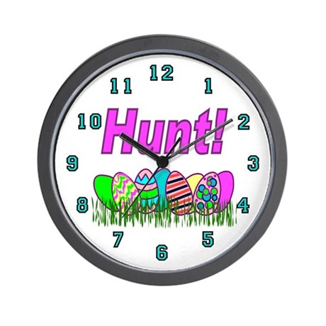 Hunt Easter Eggs Wall Clock