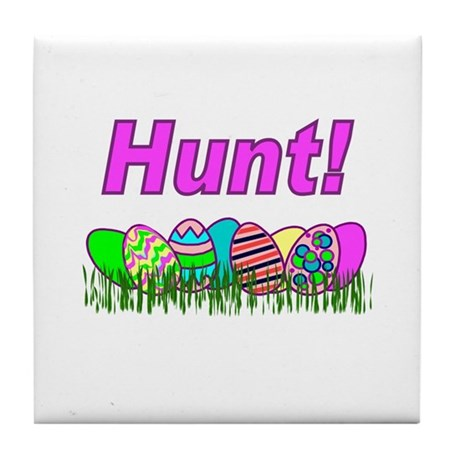 Hunt Easter Eggs Tile Coaster