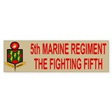 5th Marine Regiment<BR>Bumper Bumper Sticker