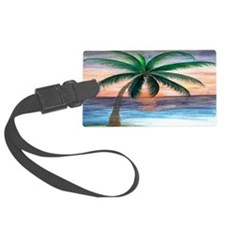 Sunset palm Luggage Tag