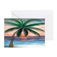 Sunset palm Greeting Card
