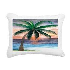 Sunset palm Rectangular Canvas Pillow