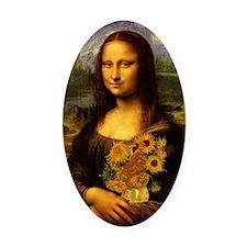 Mona Van Gogh V2 Oval Car Magnet