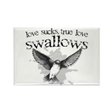True Love Swallows Rectangle Magnet