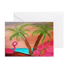 Flamingo Beach Greeting Card