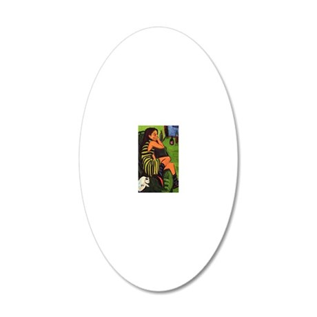 4 20x12 Oval Wall Decal