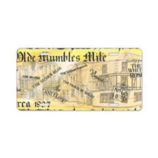 mumbles mile map Aluminum License Plate
