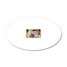 Laptop Klimt V 20x12 Oval Wall Decal