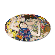 Laptop Klimt V 35x21 Oval Wall Decal