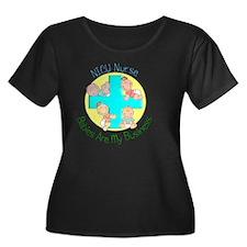 NICU Nur Women's Plus Size Dark Scoop Neck T-Shirt