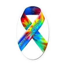 tiedye-justribbon Oval Car Magnet