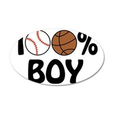 100% Boy Wall Decal