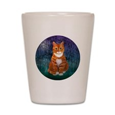 Orange Tabby Cat Shot Glass