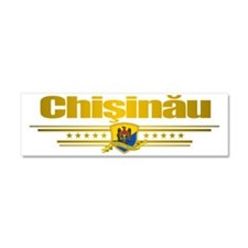 Chisinau (Flag 10) pocket 2 Car Magnet 10 x 3