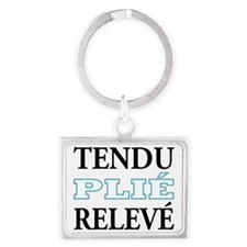 tendu_blue_outline Landscape Keychain