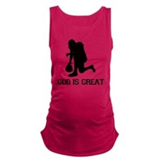 Tebowing - God is Great Maternity Tank Top